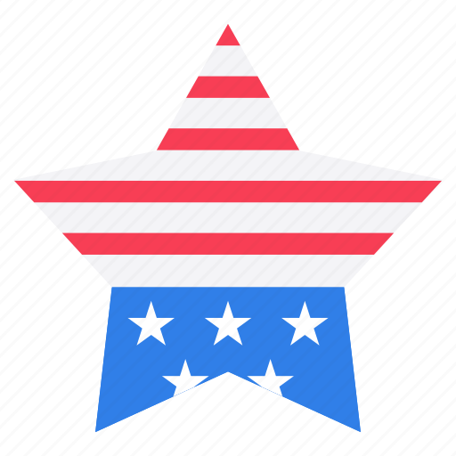 4th july star, american star, flag star, independence day emblem, independence star icon