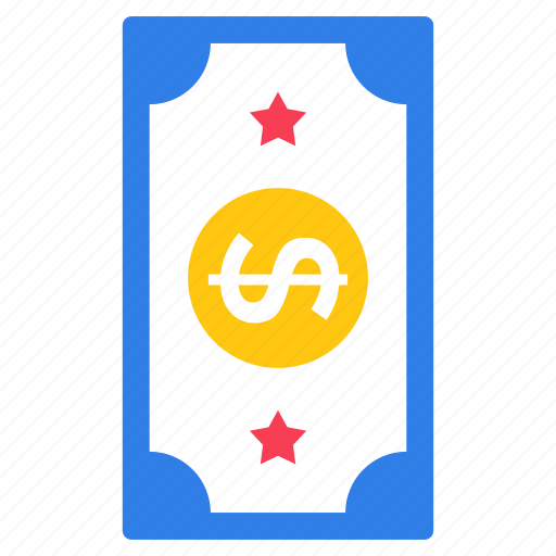 american dollar, bank note, currency, finance, paper money icon