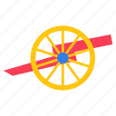 gettysburg cannon, heavy artillery, large gun, shotgun, weapon icon