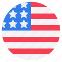 american banner, american flag, american label, circle flag, independence day, independence flag icon