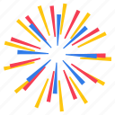 blast, celebration, firecracker, firework, patriotic firework, sparklers icon