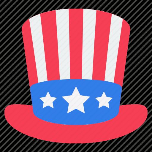 american hat, cap, headwear, party element, star hat icon