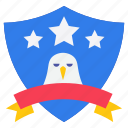 american badge, american eagle, american emblem, american shield, eagle stamp icon