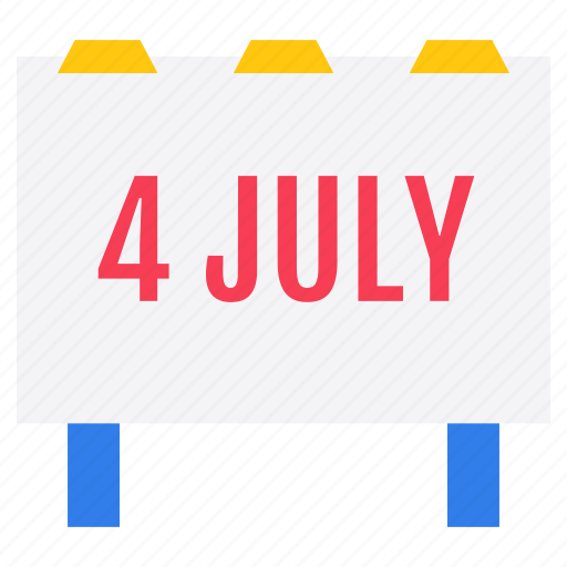4 july banner, advertising board, freedom day, independence date, independence day banner icon