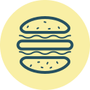 buns, burger, eat, fast food, hamburger, junk food, meal icon