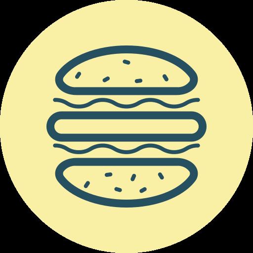 buns, burger, eat, fast food, hamburger, junk food, meal icon