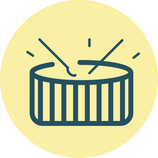 drum, drum play, drums, fourth of july, holiday, play drums, roll icon