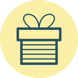 box, fourth of july, gift, holiday, present, suprise, wrap icon