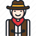 cowboy, western, cultures, man, hat, costume