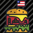 hamburger, food, fast, beef, sandwich