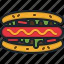 hot, dog, food, fast, restaurant, sausage