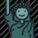 statue, of, liberty, new, york, north, america
