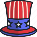 top, hat, united, states, america, country, usa