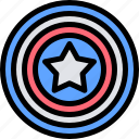 america, celebration, day, independence, shield icon