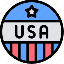 america, celebration, day, independence, pin icon