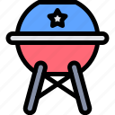 america, bbq, celebration, day, independence icon