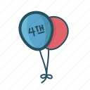 balloon, balloons, fest, festive, fourth july balloon, holiday, party icon