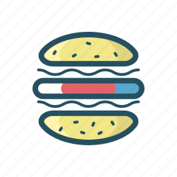 burger, eat, fast food, food, holiday, independence day, usa food icon