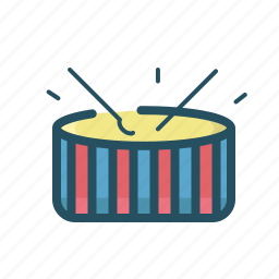 band, drum, drums, event, fest, play, roll icon