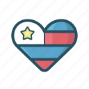 fourth of july, heart, heart america, heart freedom, july, love, patriotic icon