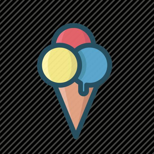 cream, hot, ice, ice cream filled, icecream, summer, sweet icon