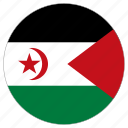 circular, country, flag, western sahara, world icon