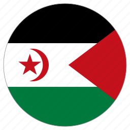 circular, country, flag, western sahara, world icon
