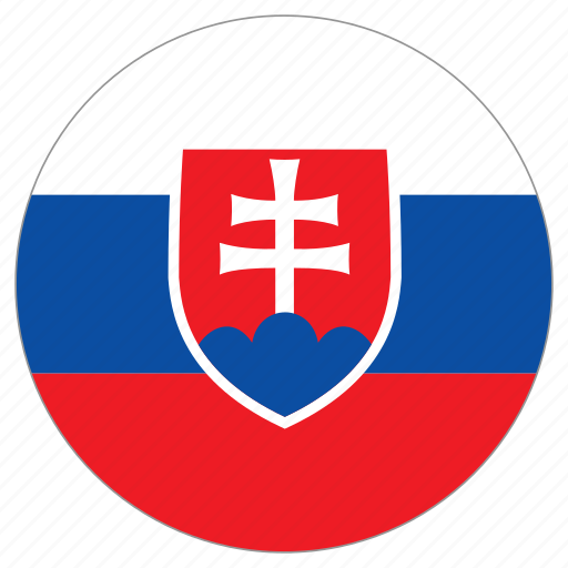 circular, country, flag, slovakia, world icon