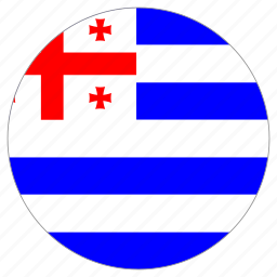 adjara, circular, country, flag, world icon