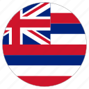 circular, country, flag, hawaii, world icon