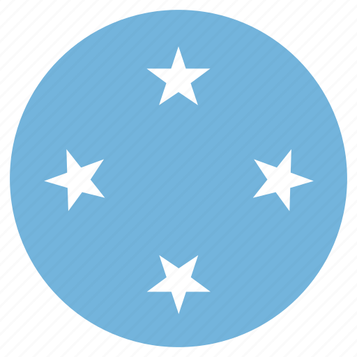 circular, country, flag, micronesia, world icon