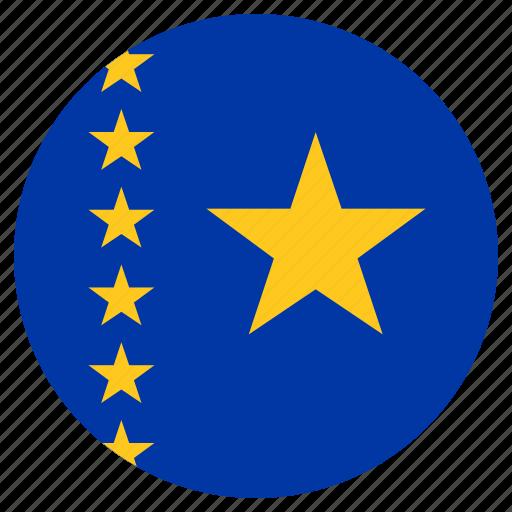 circular, country, flag, republic of the congo, world icon