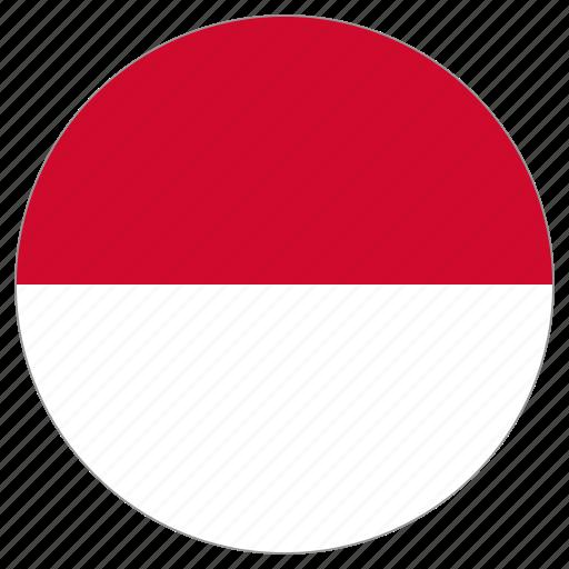 circular, country, flag, monaco, world icon