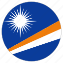 circular, country, flag, marshall island, world icon