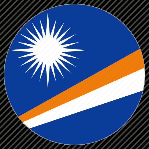 circular, country, flag, marshall island, world icon