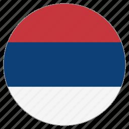circular, country, flag, serbia, world icon