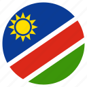 circular, country, flag, namibia, world icon