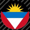 antigua and barbuda, circular, country, flag, world
