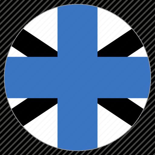 circular, country, estonia naval jack, flag, world icon