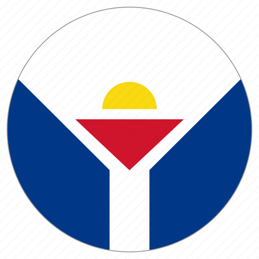 circular, country, flag, saint-martin, world icon