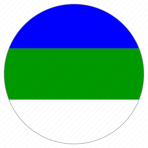 circular, country, flag, komi republic, world icon