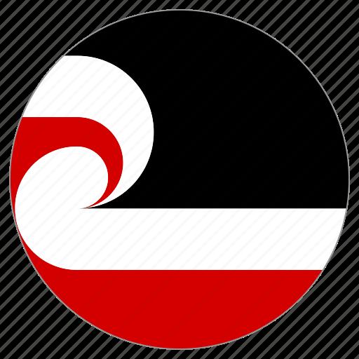 circular, country, flag, maori, tino rangatiratanga, world icon