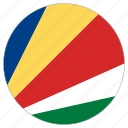 circular, country, flag, seychelles, world icon