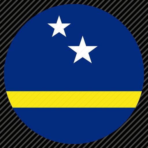 circular, country, curacao, flag, world icon