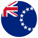 circular, cook islands, country, flag, world icon