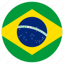 brazil, circular, country, flag, world icon