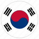 circle, country, flag, south korea icon