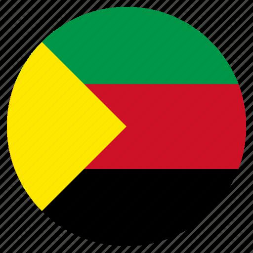 azavad, circle, country, flag icon