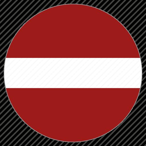 Slikovni rezultat za circle flag latvia