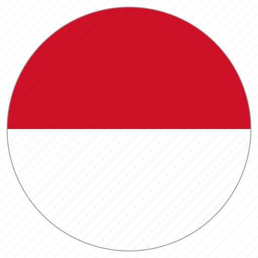 circle, country, flag, indonesia icon